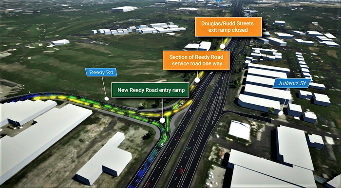 Exit Ramp to Rudd and Douglas Streets to Permanently Close for Rocklea to Darra Upgrade