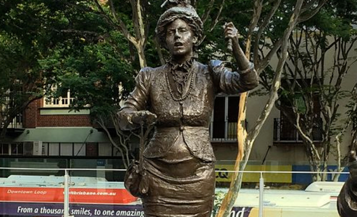 Malia Knox urged the Queensland Government to create more public monuments dedicated to women.